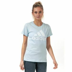 Women's adidas Must Haves Badge Of Sport Crew Neck Regular Fit T-Shirt in Blue