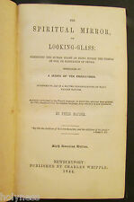 ANTIQUE BOOK / THE SPIRITUAL MIRROR, OR LOOKING GLASS / OCCULT / 1844 / RARE