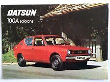 Datsun 100A Cherry Car Sales Brochure 2 door & 4 Door Small Nissan 1970s