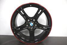 "1 x *NEW* Genuine Original BMW 1 2 Series F20 F21 361 19"" Black Red Alloy wheel"