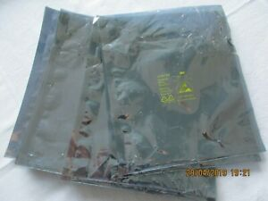 plata 8x12cm o Abschirmbeutel de cierre a presión 100 unid 10x15cm bolsas ESD