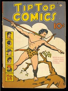 Tip Top Comics #24 Early Golden Age Tarzan United Features Comic 1938 GD+