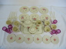 Pfaltzgraff Tootsie Toy Tea Rose Pretend Play Dishes Party Set Service For 6