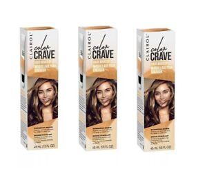 Lot of 3 Clairol Color Crave Hair Makeup, Shimmering Bronze 1.5fl oz