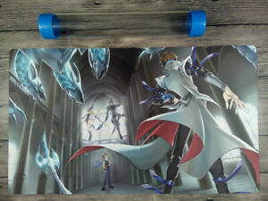 YuGiOh Dark Magician & Blue Eyes White Dragon Playmat Mat Free High Quality Tube