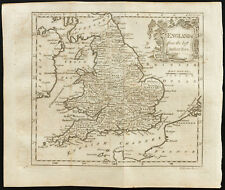 1770 - Carte ancienne England (Angleterre) - Guthrie, Kitchin - Antique map