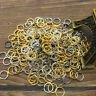 Wholesale 4/5/6/8MM Jump Rings Open Connectors Jewelry Making Finding Pick Style