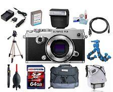 Olympus PEN-F Body (Silver) w/ Olympus FL-LM3 Flash Kit