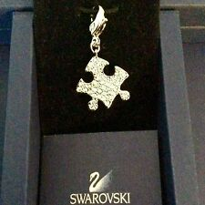 GENUINE SWAROVSKI® PAVE CHARM PENDANT W/ SIGNED LOBSTER CLASP~ PUZZLE