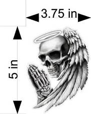 ANGEL OF DEATH SKULL  motorcycle/car/truck/vehicle/window/decals/stickers