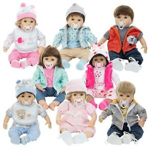 """Baby Cuddles 18"""" Lifelike Baby Doll With Magnetic Dummy, Modern Outfit & Bottle"""