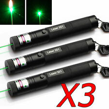 3X 10 Miles 532nm Green Laser Pointer Light Pen Burn Beam 5mW High Power Lazer M