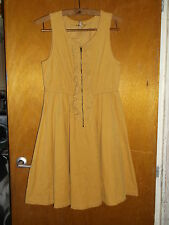 M&S/Angel 100%Cotton Cord Sleeveless Dress w/Frill Detail 11y 146cm Yellow BNWoT