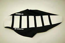 New Ribbed Yamaha Logo Seat Cover White/Black Ribs YZ250F YZ450F 2006-2009