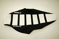 New Ribbed Yamaha Logo Seat Cover White/Black Ribs YZ250F YZ450F 2014-2017