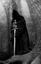 Large Framed Print - Dark Gothic Demon Knight Wait in a Gloomy Forest (Picture)