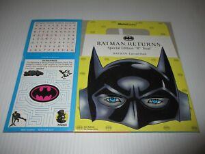 1992 BATMAN RETURNS McDONALDS HAPPY MEAL BOX CATWOMAN UNUSED