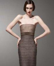 Carmen Marc Valvo Two-Tone Metallic Bandage Dress ( L)