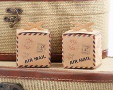 24 Adventure Airplane Kraft Favor Boxes Wedding Travel Theme Favors Q36526