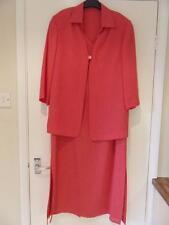 Designer LUIS CIVIT Deep Coral Pink 2 Piece Suit - Dress & Jacket - Size 18
