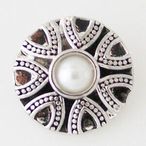 Button Click Druckknopf K5170 - Perle Ornament - kompatibel mit Chunk Armband