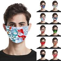 Weihnachten Mund Maske Wiederverwendbare Maske Stoffmaske Waschbar CoverP/D
