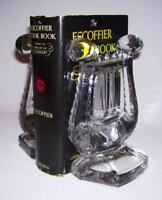 """FOSTORIA ~ Nice Pair of Vintage Solid Glass-Crystal """"LYRE/HARP"""" BOOKENDS (#2601)"""