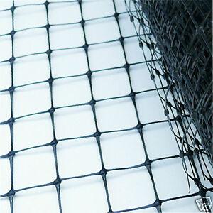 Pheasant Poultry Game Pond Garden Black Plastc Netting Net, 50 x 50mm Mesh, 100m