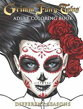 Relaxing Coloring Book Adult Grimm Fairy Tales Art Design Stress Relief Fun Gift