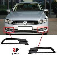 FOR VW PASSAT B8 14-18 FOR FRONT BUMPER FOGLIGHT GRILLE WITH CHROME TRIM PAIR
