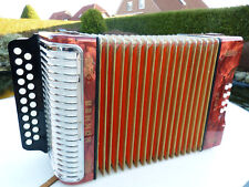 Hohner Erica Knopfakkordeon C/F Melodeon, Made in Germany, Button Accordion.