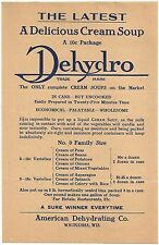 Advertising Broadside & Price List for Dehydro Food Products 1911