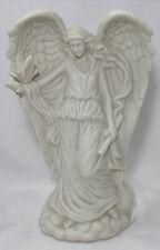 Guardian Angel w/Dove Night Light Lamp Figurine White Porcelain Nursery 10'H