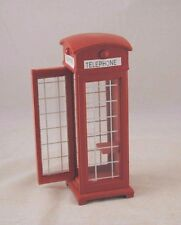 British Phone Booth dollhouse miniature 1/12 scale T5965 wood