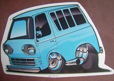 '61 -'67 Ford Econoline Window Van Tin Sign  in  Pale Blue