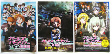 GIRLS und PANZER der FILIM 3 kinds flyers set/free shipping (with newest flyer)