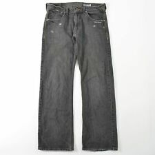 Levis Vintage Silvertab Boot Gray Wash Jeans Distressed Mens 33X32