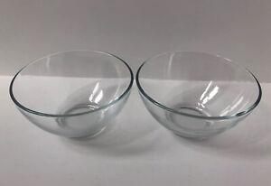 Vintage Arcoroc France Glass Desert Bowls X2