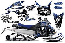 AMR Racing Yamaha Viper Graphic Kit Snowmobile Sled Wrap Decal 14-16 CIRCUS BLUE