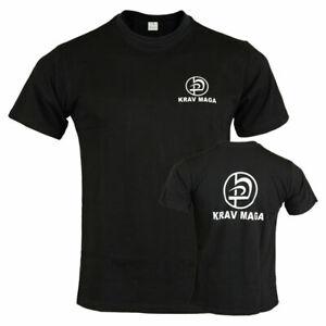 Krav Maga T Shirt Black Training Top Martial Arts Casual Wear Gym