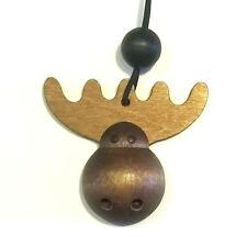 AARIKKA Finland - Very Cute Brown Wood Moose Bookmark - NEW