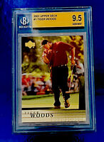 2001 Upper Deck Golf #1 Tiger Woods RC Beckett 9.5 GEM MINT Prayers For Tiger 🙏