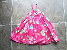 BNWT Girl's Pink & Green Floral Strappy Summer Dress Size 2