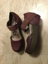 New $125 OTBT MIGRANT TWO PLATFORM MARY JANE WINE RED LEATHER SHOES 6 M WOMENS