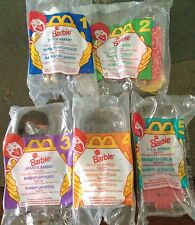Vintage Mattel Barbie Dolls of the World Set of 5 by McDonald's 1995 in package