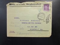 Germany 1927 Cover to Florida / Top Creasing - Z6640