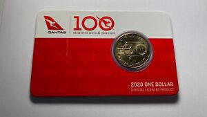 2020 UNCIRCULATED QANTAS CENTENARY $1 ONE DOLLAR CARDED RAM COIN MINT