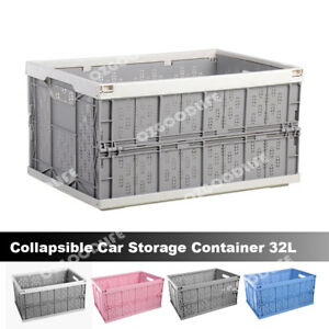 Archive Box Instacrate Collapsible Folding Crate Car Storage Container 32L AU
