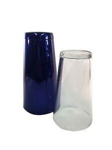 Electric Blue Professional Boston Cocktail Shaker 28oz Tin and Boston Glass Set