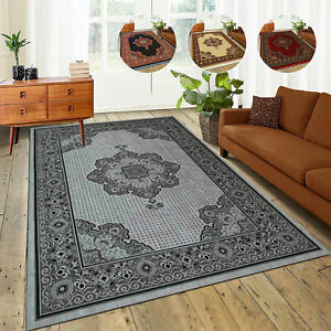 Modern Floral Area Rug Extra Large Traditional Rugs Vintage Style Carpet Mats UK